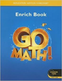 Go Math!: Student Enrichment Workbook Grade K