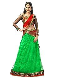 Admyrin Women Net Lehenga (Ay-Lh-Srn-15005 _Green _42)