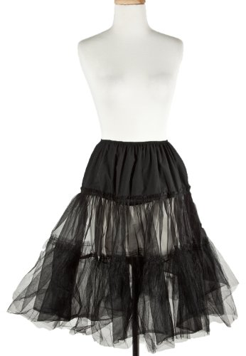 Hey Viv! Poodle Skirt Crinoline - Plus Sz Black