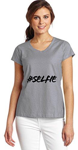 hashtag-selfie-womens-v-neck-t-shirt-large