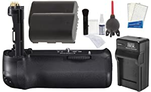 Canon BG-E14 Battery Grip for Canon EOS 70D Digital SLR Camera with 2 LP-E6 Batteries + Charger + Accessory Kit