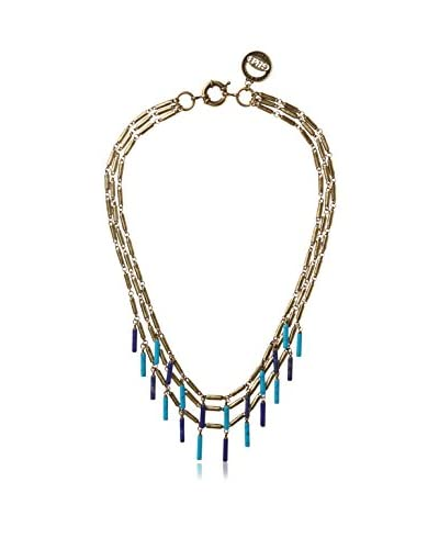 Giles & Brother Stone Fringe Multi-Chain Necklace