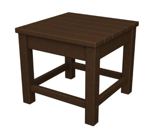 17.75 Recycled Earth-Friendly Outdoor Patio Club Side Table - Mahogany 42 outdoor recycled earth friendly bar table sand brown with silver frame
