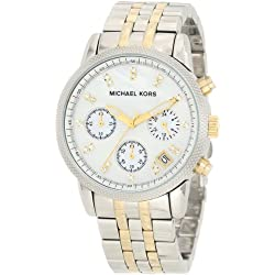 Đồng Hồ Nữ Michael Kors Watches Two-Tone Chronograph with Stones