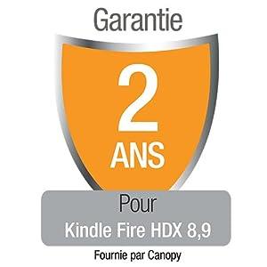 """Garantie de 2 ans avec protection en cas d'accident et de vol pour le nouveau Kindle Fire HDX 8,9"""" , réservée à notre clientèle résidant en France métropolitaine"""