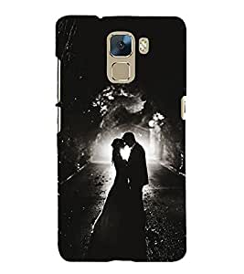 Romantic Couple Cute Fashion 3D Hard Polycarbonate Designer Back Case Cover for Huawei Honor 7 :: Huawei Honor 7 Enhanced Edition :: Huawei Honor 7 Dual SIM