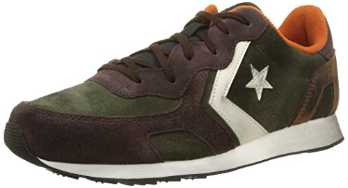 Converse, Auckland Racer Ox Suede Sneaker,Unisex Adulto, Multicolore (Dark Thyme/Dark Brown), 43