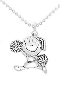 Amazon.com: Clayvision Cheerleader Cheer Girl Pewter ...