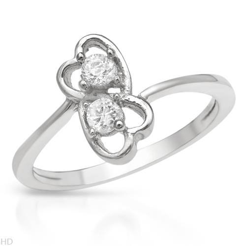 Ring With 0.50ctw Cubic zirconia Well Made in 925 Sterling silver (Size 7)
