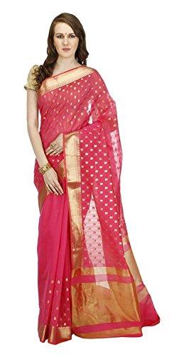 Banarasi-Silk-Works-Womens-Cotton-Banarasi-Saree-Pink