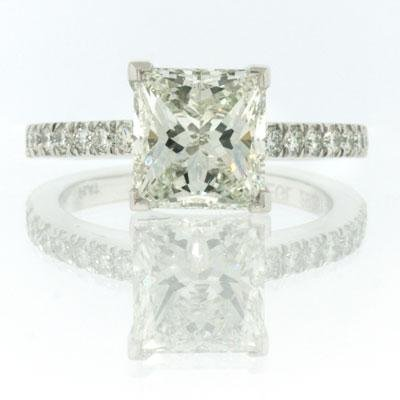 2.91ct Princess Cut Diamond Engagement Anniversary