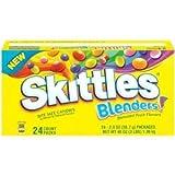 Skittles Blenders Blended Fruit Flavors Candy 56.7 Grams Packs (Pack of 24)
