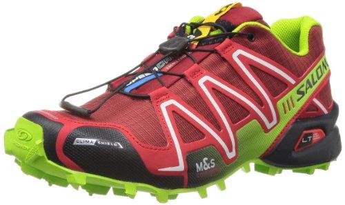 Salomon Speedcross 3 CS, Scarpe sportive, Uomo, Multicolore (Flea/Bright Red/GR), 44