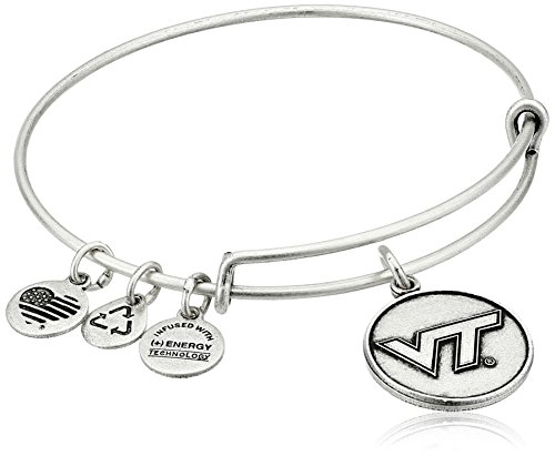 Alex and Ani Virginia Tech Logo Expandable Rafaelian Silver Bangle Bracelet
