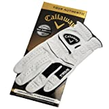 CALLAWAY GOLF MEN'S TOUR AUTHENTIC WHITE GLOVE. LEFT HAND. SMALL.