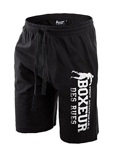 Boxeur Des Rues Fight Activewear Short da Allenamento con Stampa, Nero, L
