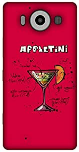 The Racoon Lean Sweet Appletini hard plastic printed back case / cover for Microsoft Lumia 950