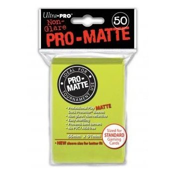 Ultra Pro Sleeves PRO-MATTE Card Game (Matte Bright Yellow) 50 count