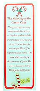 Story of the Candy Cane 2 1/4 Inch Lapel Pin with Bookmark