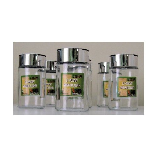 Set of (6) 2-Way Spice Jars