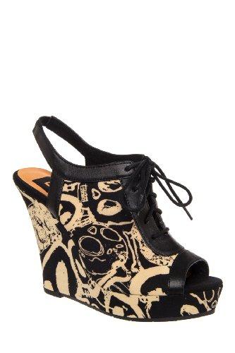 BC Footwear Sugar Rush High Wedge Slingback Sandal