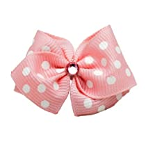 Puppy Kisses Betty Dog Hair Bow - Metal barrette closure Made with SWAROVSKI ELEMENTS