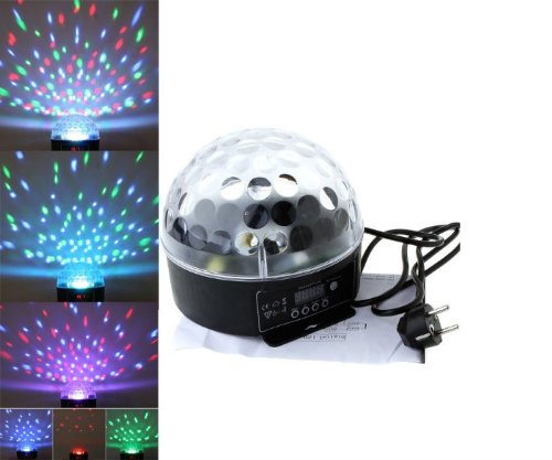 Hkbayi 20W Mini Digital Led Rgb Crystal Magic Ball Effect Light Dmx Disco Dj Stage Lighting Us Plug