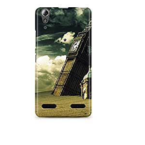 Motivatebox - Lenovo A6000 Back Cover - Clock Tower in Ruins Polycarbonate 3D Hard case protective back cover. Premium Quality designer Printed 3D Matte finish hard case back cover.