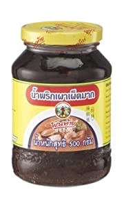 Thai Pantainorasingh Chilli Paste In Oil High Spicy 500g L from Pantainorasigh