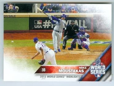 Mike Moustakas baseball card (Kansas City Royals) 2016 Topps #21 2015 World Series Game Winning Hit