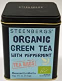 Green Tea With Mint - Organic , 25 Pyramid Tea bags 50g Caddy
