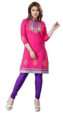 Indian Tunic Top Womens Cotton Long Kurti Blouse India Clothes