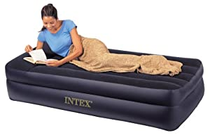 Intex Pillow Rest Twin Airbed with Built-in Electric Pump
