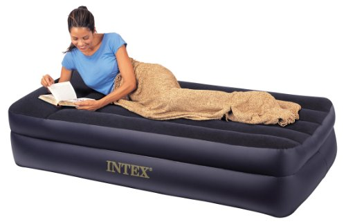Intex Intex Pillow Rest Twin Airbed with Built-in Electric Pump
