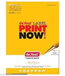 100 SHEET DESMAT A4 label Sticker Paper size(4x1) for Processing order (A4ST4)