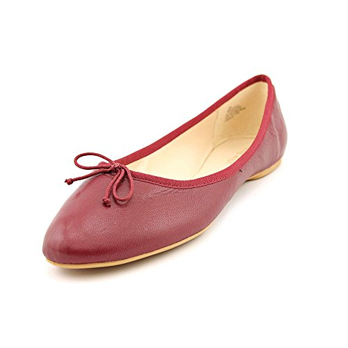 Nine West Women'S Classica Ballet Flat,Red Leather,6.5 M Us