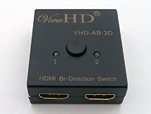 ViewHD HDMI Bi-directional 2x1 or 1x2 A-B / AB Switch / Switcher