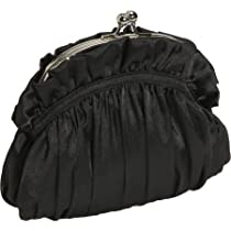 J. Furmani Silk Satin Clutch Bag - Black