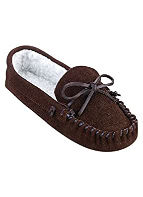 Men's Leather Slippers, Color Brown, Size 07