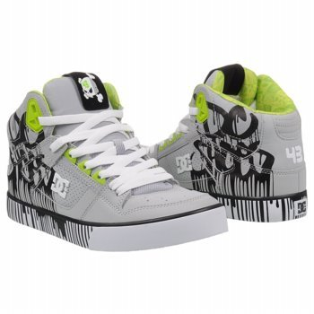 gray dc shoes ken block high top 43 shoes sneakers new ebay. Black Bedroom Furniture Sets. Home Design Ideas