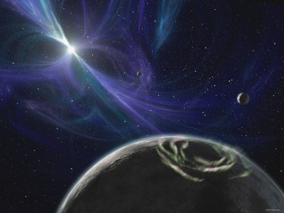 Artist's Concept: Pulsar Planet System Discovered by Aleksander Wolszczan in 1992