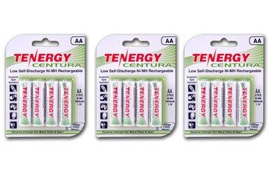 Tenergy Centura Aa Low Self-Discharge Lsd Nimh Rechargeable Batteries, 3 Card 12Xaa