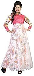 Anbazaar White Net Gown