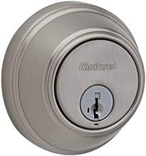Kwikset 816 Key Control Single Cylinder Deadbolt featuring SmartKey® in Satin Nickel
