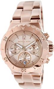 Amazon.com: Michael Kors Dylan Chronograph Rose Gold-tone Ladies Watch