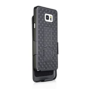 Galaxy Note 5 Case, AceAbove Case For Galaxy Note 5 with Belt Clip Super Slim Hard Armor Holster Case with Kickstand and Swivel Belt Clip for Samsung Galaxy Note 5 - Black