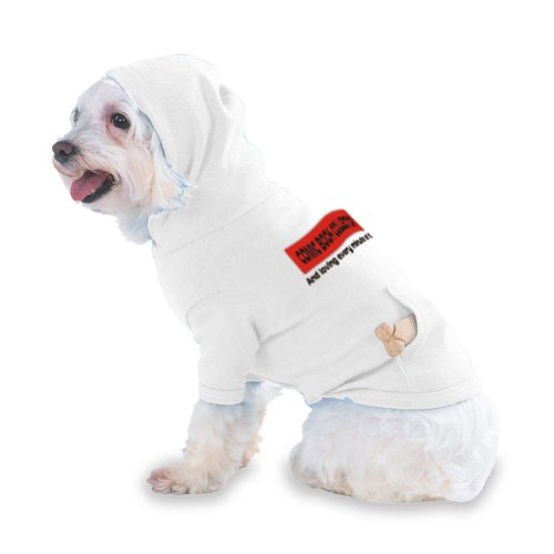 COMIC BOOK COLLECTOR And loving every minute of it Hooded (Hoody) T-Shirt with pocket for your Dog or Cat XS White