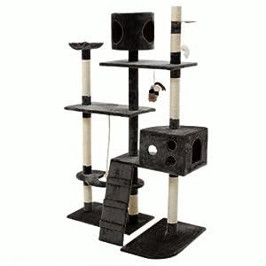 arbre chat griffoir grattoir gris animalerie. Black Bedroom Furniture Sets. Home Design Ideas
