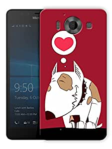"""Humor Gang Dog In Red Heart Printed Designer Mobile Back Cover For """"Nokia Lumia 950"""" (3D, Matte, Premium Quality Snap On Case)"""