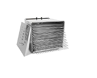 TSM Products Stainless Steel Food Dehydrator with 10 Stainless Steel Shelves by TSM Products